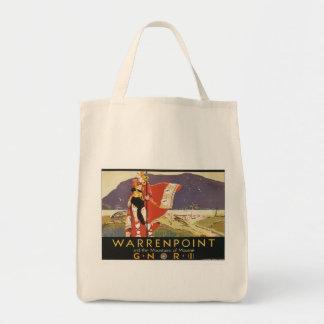 Vintage Warrenpoint Grocery Tote Bag