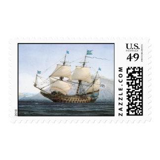 Vintage Warship Vasa Stamps
