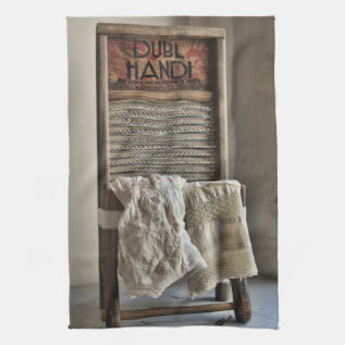 Vintage Washboard Kitchen Towel at Zazzle