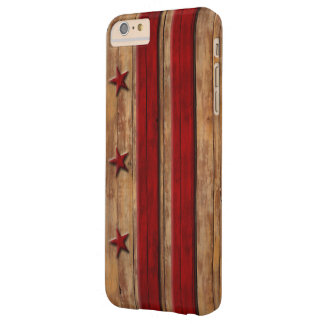 Vintage Washington D.C. Flag Distressed Wood Look Barely There iPhone 6 Plus Case