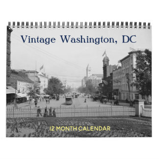 Vintage Washington DC Calendar