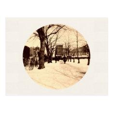 Vintage Washington Dc In Snow At Christmas Postcard at Zazzle