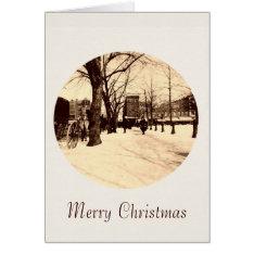 Vintage Washington Dc In Snow Christmas Card at Zazzle