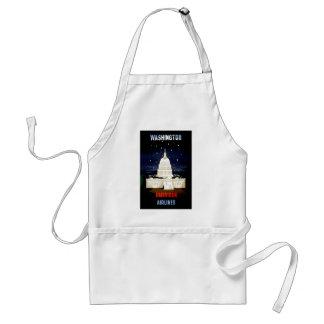 Vintage Washington DC Travel Adult Apron