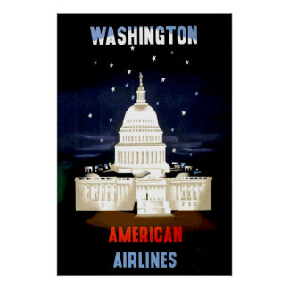 Vintage Washington DC Travel Poster