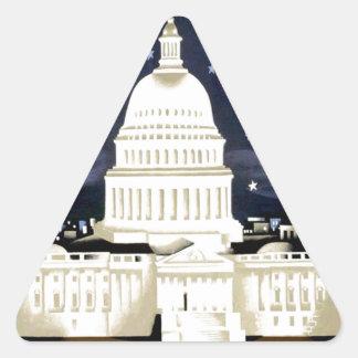 Vintage Washington DC Travel Triangle Sticker