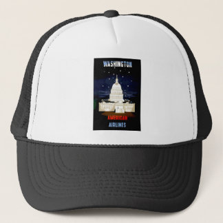Vintage Washington DC Travel Trucker Hat
