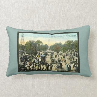Vintage Washington Park Michigan City Indiana Lumbar Pillow