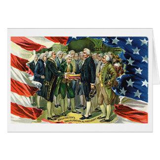 Vintage Washington's Inauguration As President Card