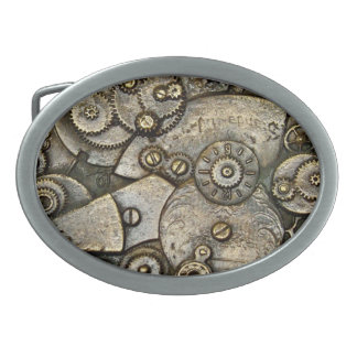 Vintage Watch Gear Mechanism Belt Buckle