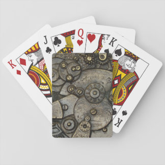 Vintage Watch Gear Mechanism Playing Cards