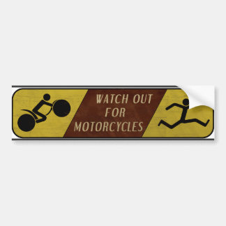 Vintage Watch Out For Motorcycles Car Bumper Sticker