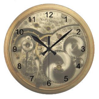 Vintage Watchworks Round Wall Clock
