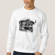 Vintage Water Buffalo Retro Bison Illustration Sweatshirt