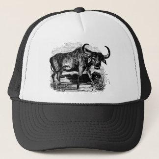 Vintage Water Buffalo Retro Bison Illustration Trucker Hat