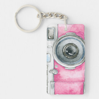 Vintage water color camera style 2 keychain