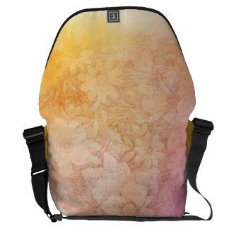Vintage Water Color Floral Background Messenger Bag