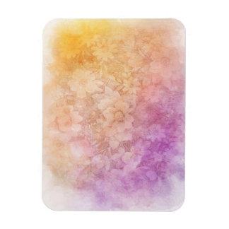 Vintage Water Color Floral Background Rectangular Photo Magnet