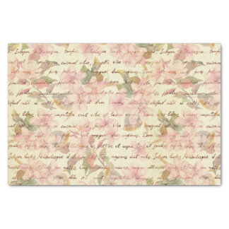 """Vintage,water color,floral,hand writtend,victorian 10"""" x 15"""" tissue paper"""