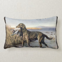Vintage Water Dog Lumbar Pillow