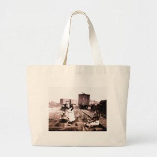 Vintage Water Girls Jumbo Tote Bag