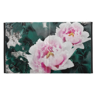 Vintage Water Lily Flowers - Chinese Painting Art iPad Case