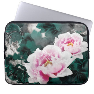 Vintage Water Lily Flowers - Chinese Painting Art Laptop Computer Sleeves