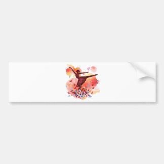 Vintage Watercolor Ballerina Dancer Ballet and But Bumper Sticker