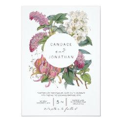 Vintage Watercolor Floral Art Wedding Card