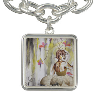 Vintage Watercolor Floral Ballet 1920s Dance Charm