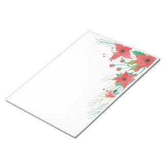 Vintage Watercolor Floral notepad