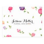 Vintage Watercolor Florals Craft Designer II Postcard
