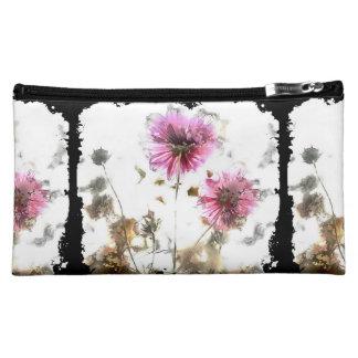 Vintage Watercolor Flower Design Comestic Bag