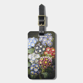 Vintage Watercolor Garden Flowers Personalized Bag Tags