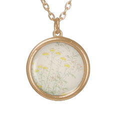 Vintage Watercolor Love Gold Plated Necklace at Zazzle