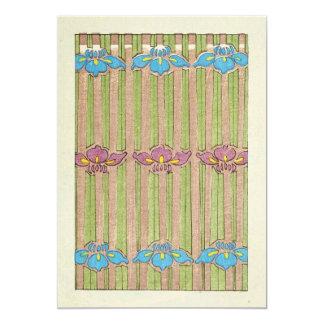 Vintage Watercolor of Flowers Card