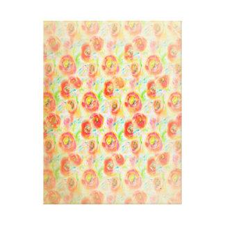 Vintage Watercolor Poppies Canvas Print