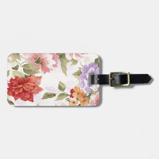 Vintage Watercolor Roses Luggage Tag