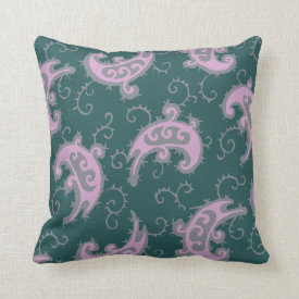 Vintage watercolor-style Kashmir pattern Pillow