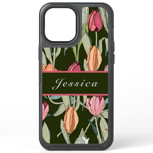 Vintage Watercolor Tulips Floral Pattern  Case-Ma OtterBox Symmetry iPhone 12 Pro Max Case
