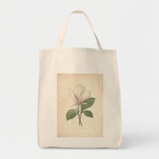 Vintage Watercolors Magnolia Grocery Bag