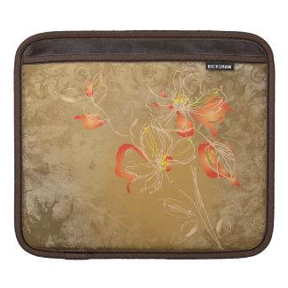 Vintage Watercolour Flowers Rickshaw Sleeve iPad Sleeves