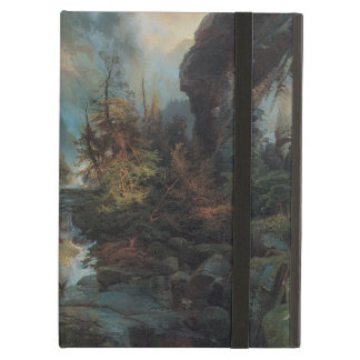 Vintage Waterfall in Mountains Landscape by Moran iPad Air Cases
