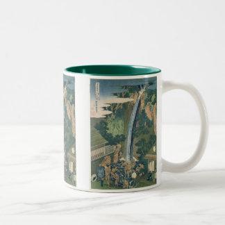 Vintage Waterfall Japanese Print Mugs & Steins
