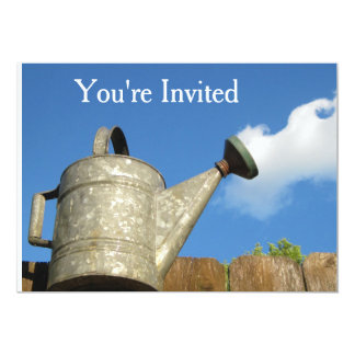 Vintage Watering Can Cloud Illusion Card