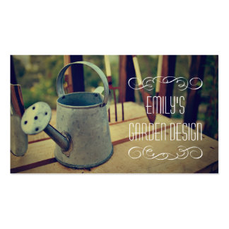 Vintage Watering Can Garden Design Business Card