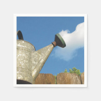 Vintage Watering Can Pouring A Cloud Paper Napkin