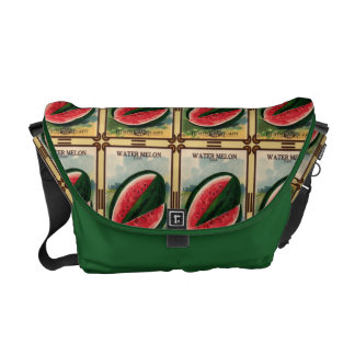 Vintage Watermelon Seed Packet Messenger Tote Courier Bags