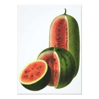 Vintage Watermelons Tall Round, Organic Food Fruit Card