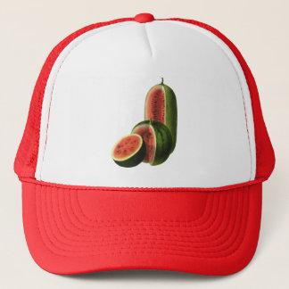 Vintage Watermelons Tall Round, Organic Food Fruit Trucker Hat